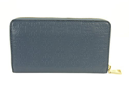 Tory Burch Embossed T Zip Continental Wallet Leather Comet New