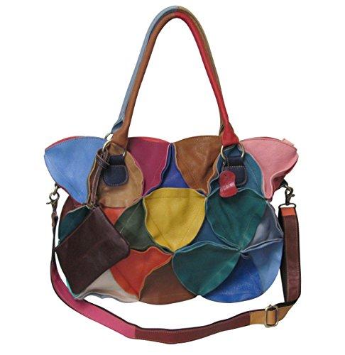 Amerileather Lotus Leather Tote Bag (#1919-9)