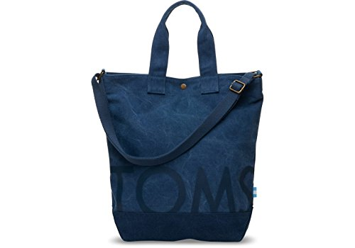 Toms 10010063 Womens Navy Cross-Body Strap Canvas Compass Tote Bag