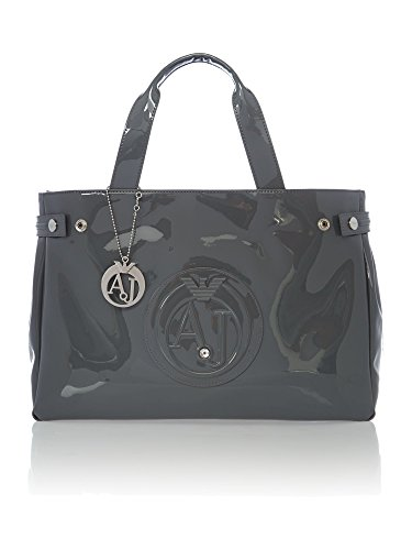 Armani Jeans Large Embossed Logo Patent Vinyl Bag with DHL EXpress