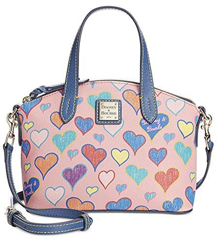 Dooney & Bourke Pink Hearts Mini Ruby Crossbody Satchel