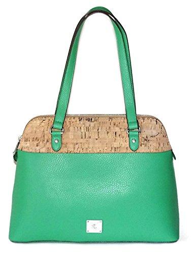 Ralph Lauren Satchel Fern Faux Vegan Leather Hanway Dome Handbag