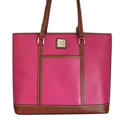 Dooney & Bourke Cynthia Tote Shoulder Bag Fuchsia Leather Handbag