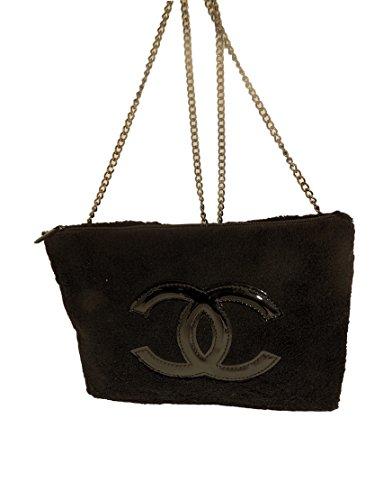 Chanel Beaute Beauty Black Clutch Purse Crossbody