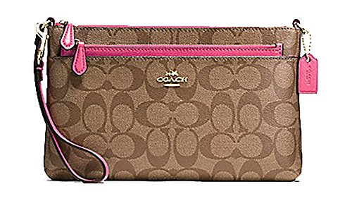 Coach Signature Purse with Pop Up Pouch – #F65806