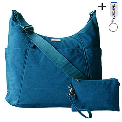 Baggallini Slick Hobo Tote Handbag Functional Pockets Crossbody (Pacific)