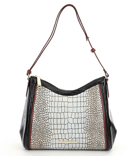 Brahmin Estero Collection Gracie Crocodile-Embossed Hobo Bag