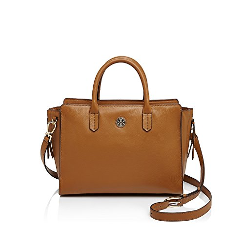 Tory Burch Brody Small Leather Tote in Bark