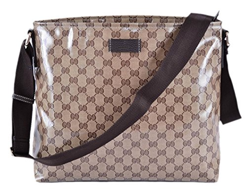 Gucci Crystal Coated Canvas GG Guccissima Messenger Bag