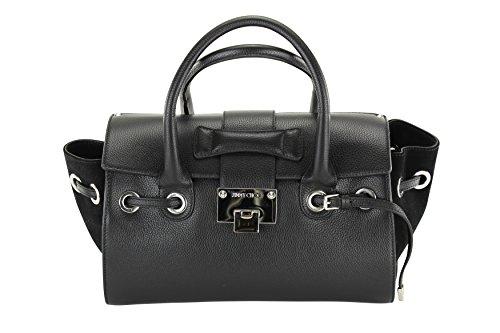 Jimmy Choo Womens Rosa Small Tote – Black Leather
