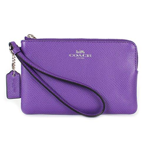 Coach Corner Zip Wristlet Purple