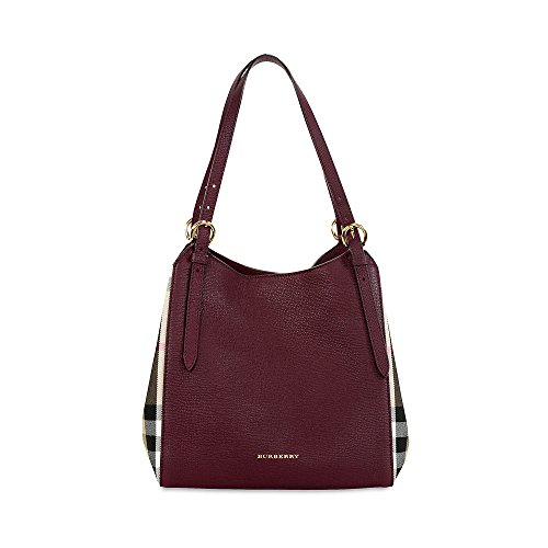 Burberry The Small Canter Leather Tote – Mahogany Red 3963029