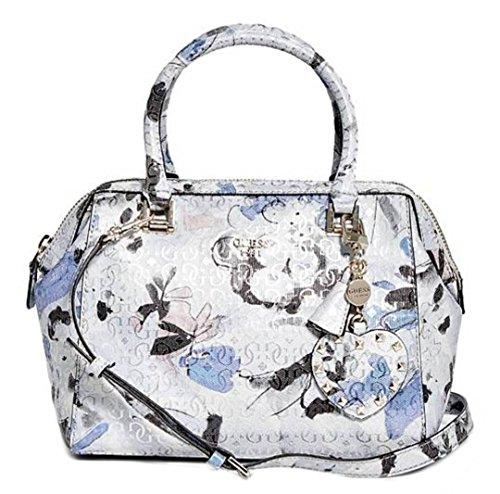 GUESS Winett Women's Satchel Bag, Blue Floral