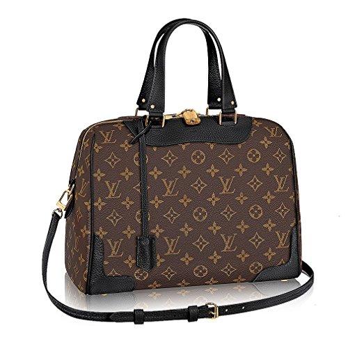 Authentic Louis Vuitton Monogram Canvas Retiro NM Tote Handbag Article:M50058 Noir Made in France