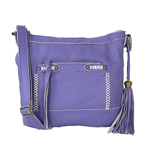 Lucky Brand Karma Leather Crossbody Bag, Lavender