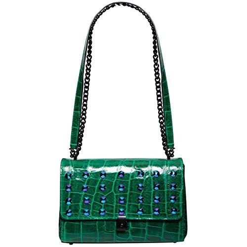 Eric Javits Designer – Luxury Women's Regine Handbag (Emerald)