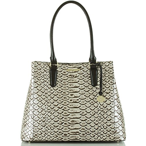 Brahmin Joan Tote Python Pearl Dogwood Leather Bag