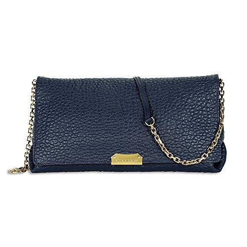 Burberry Medium Signature Blue Leather Clutch Cross-body Women's Bag