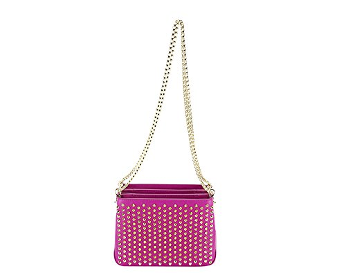 Christian Louboutin Womens Triloubi Chain Shoulder Bag – Purple Calf Leather