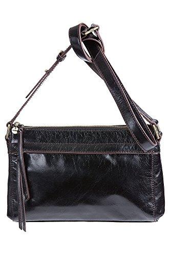 Hobo Handbags Vintage Leather Tobey Crossbody – Black