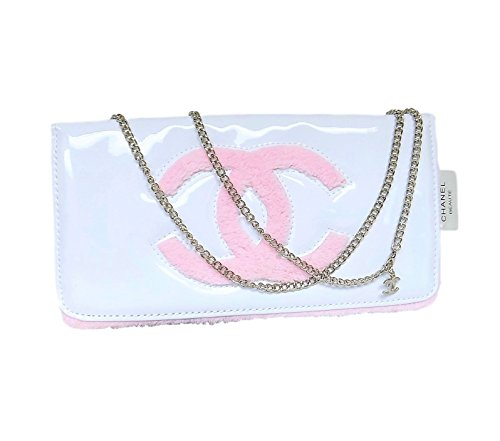 Chanel Beaute Beauty White Pink Clutch Purse