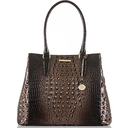 Brahmin Joan Tote Brunello Melbourne Croco Emb Leather Bag