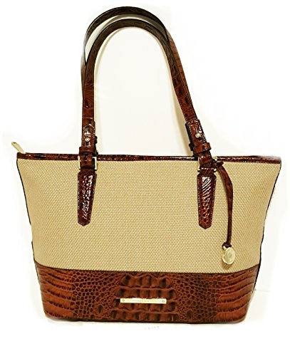 NEW AUTHENTIC BRAHMIN MEDIUM ASHER SHOULDER TOTE (Pecan Harbor)