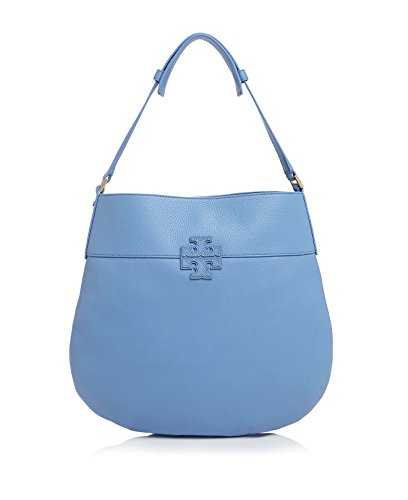 Tory Burch Stacked T Leather Hobo Shoulder Bag