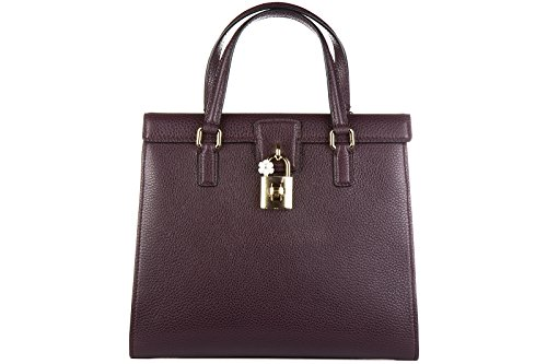 Dolce&Gabbana women's leather handbag shopping bag purse calfskin bottalato dolc