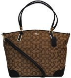 Coach Outlined Signature Large Kelsey in Khaki & Brown