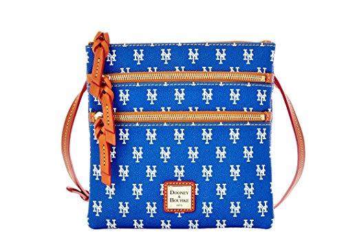 Dooney and Bourke New York Mets Triple Zip Crossbody Handbag