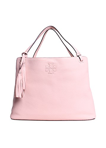 Tory Burch Thea Center-Zip Tote Sweet Melon
