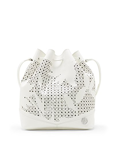 Vince Camuto Suzzi Perforated Drawstring Handbag Snow White