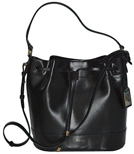 Ralph Lauren Handbag Leather Tate Drawstring Hobo Bag Purse
