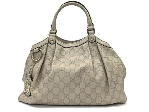 New Gucci Handbag White Leather