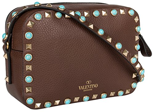 Valentino Rockstud Rolling Bag – Brown