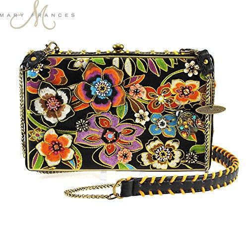 Mary Frances Blossoms Black Handbag