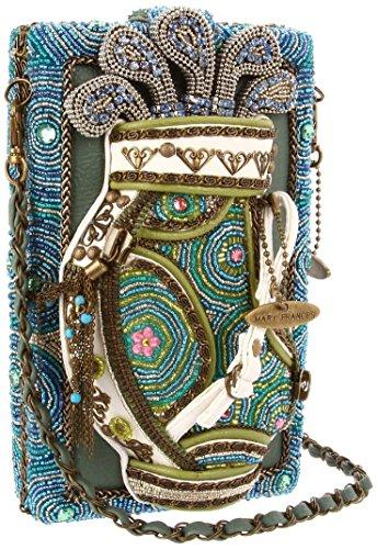 Mary Frances Handbag Hole in One Golf Bag Green Teal Beaded Crystal Jeweled Shoulder Bag