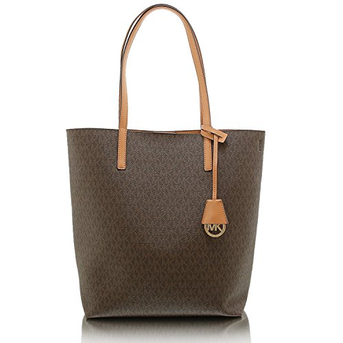 Michael Kors Hayley Large Logo North-South Tote – Brown – 30F6GH3T3V-972