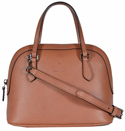 Gucci Women's Textured Leather Convertible Mini Dome Purse (Saffron Tan)