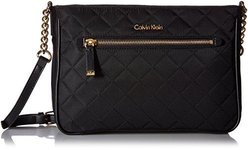 Calvin Klein Florence Nylon Crossbody, Black Quilt