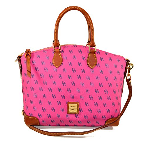Dooney & Bourke Gretta Signature Satchel Fuchsia / Navy