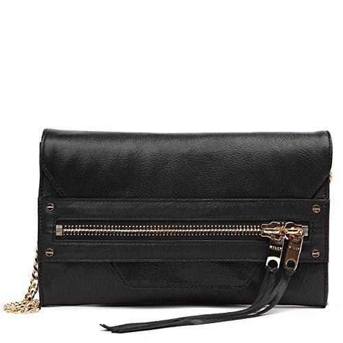 MILLY Women's Riley Clutch Handbag 65RC61153 Black