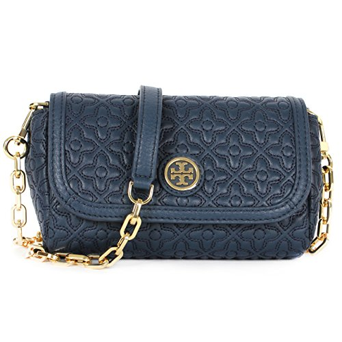 Tory Burch Bryant Quilted Leather Small Crossbody, Style No. 34029 (Hudson Bay)