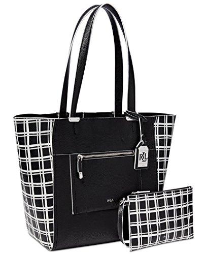 LAUREN Ralph Lauren Paley Lauryn Bag-in-Bag Tote – Black window