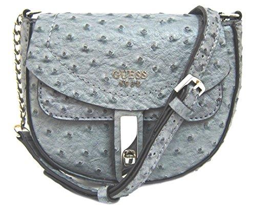 GUESS Women's Kingsley Mini Crossbody Bag, Steel
