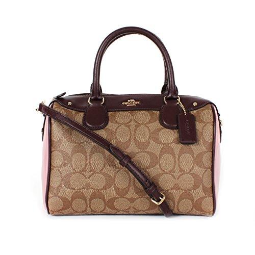 Coach Leather Handbag Bag Tassel Khaki