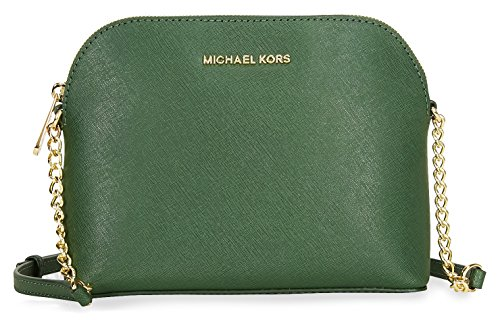 Michael Kors Cindy Large Saffiano Leather Crossbody – Moss