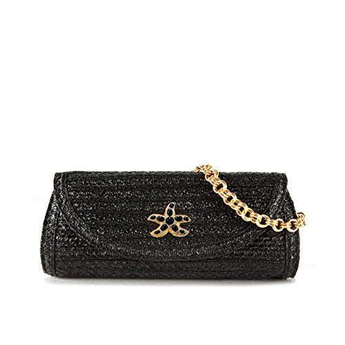 Eric Javits Luxury Fashion Designer Women's Handbag – Paradis – Black