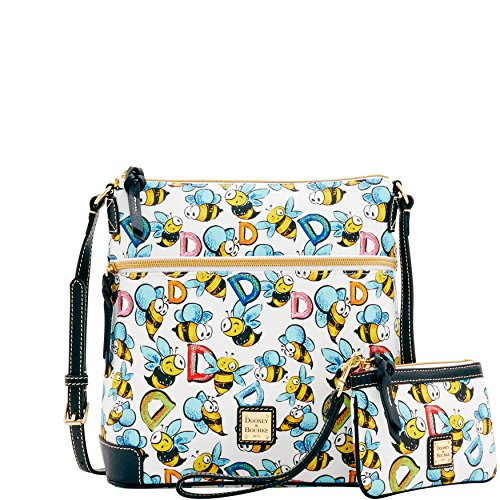 Dooney & Bourke Bumble Bee Crossbody w/ Wrislet 2 pc set